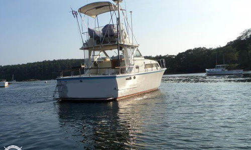 Image of Hatteras 31 Flybridge Cruiser for sale in United States of America for $12,000 (£9,283) Richmond, Maine, United States of America