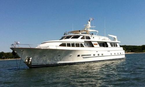 Image of DENISON Raised Bridge Motor Yacht-1986/2010 for sale in United States of America for $1,195,000 (£904,344) Palm Beach, FL, United States of America