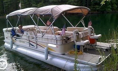 Image of Lifetime Fisher 240 DLX Pontoon for sale in United States of America for $18,500 (£13,997) Middlesboro, Kentucky, United States of America