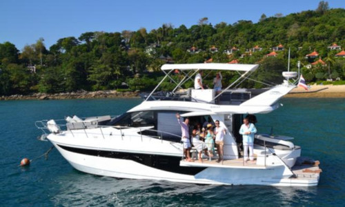 Image of Galeon 460 Fly for charter in Thailand from €19,900 / week Yacht Haven Marina, Thailand