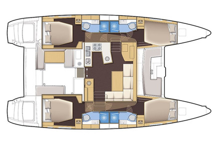 Lagoon 450 S for charter in Thailand from €4,760 / week