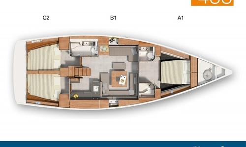Image of Hanse 455 for charter in Netherlands from €2,020 / week Kortgene, Netherlands