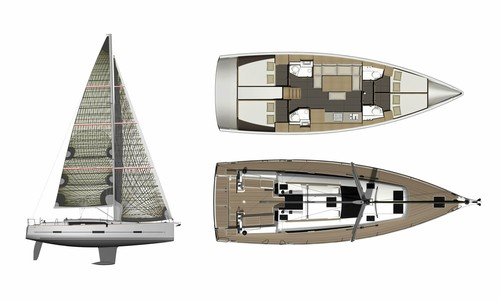 Image of Dufour Yachts 460 Grand Large (4 cab) for sale in Greece for £225,000 Greece