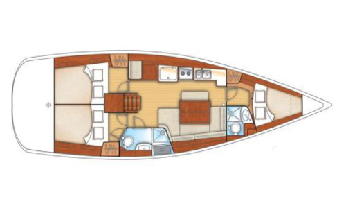 Image of Beneteau Oceanis 40 for charter in Greece from €2,500 / week Alimos Marina, Greece