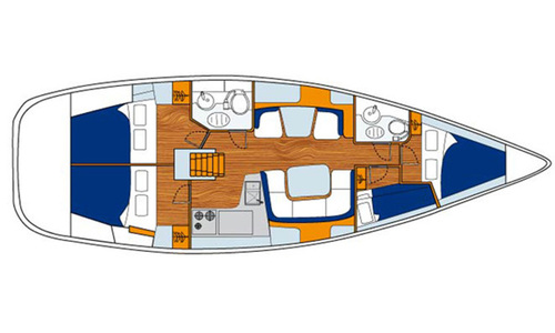 Image of Jeanneau Sun Odyssey 43DS for sale in Greece for £70,000 Greece