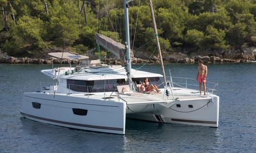 Image of Fountaine Pajot Helia 44 for sale in Greece for €368,000 (£316,810) Greece