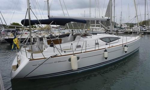 Image of Jeanneau Sun Odyssey 42 DS for sale in Antigua and Barbuda for $145,000 (£111,166) Jolly Harbour, , Antigua and Barbuda