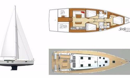 Image of Beneteau Sense 55 for sale in Thailand for €195,000 (£178,084) Phuket, , Thailand