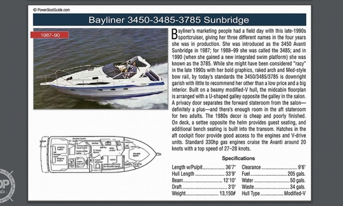 Image of Bayliner 3485 Avanti Sun Bridge for sale in United States of America for $22,250 (£16,110) Ecorse, Michigan, United States of America