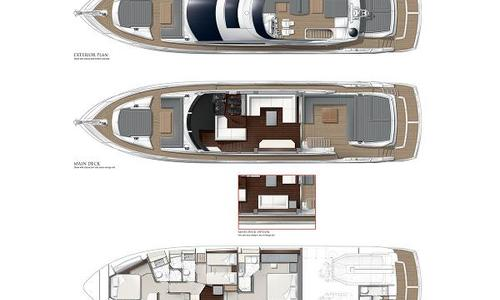 Image of Sunseeker 74 Sport Yacht for sale in France for €2,500,000 (£2,209,007) La Napoule, 06, France