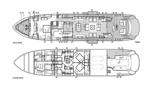 Image of Sunseeker 115 Sport Yacht for sale in Australia for €7,250,000 (£6,274,340) Brisbane City, QLD, Australia