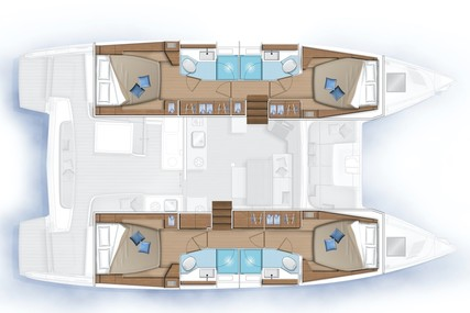 Lagoon 46 for charter in Puerto Rico from $10,000 / week
