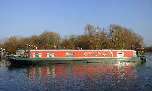 Image of Wide Beam Narrowboat 60 x 11 Aqualine Canterbury for sale in United Kingdom for £89,950 Reading, United Kingdom