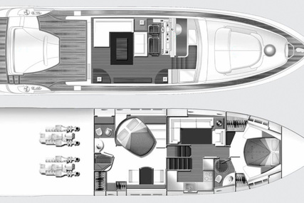 Azimut Yachts 62 S for sale in France for €480,000 (£415,405)