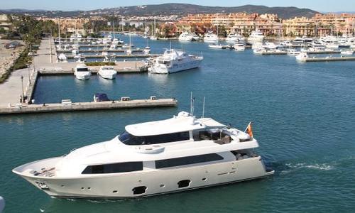 Image of Ferretti Custom Line 2600 Navetta for sale in Spain for €2,600,000 (£2,318,965) Spain