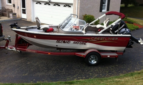 Image of Crestliner 1650 Sport Angler for sale in United States of America for $15,500 (£11,757) Canton, Ohio, United States of America