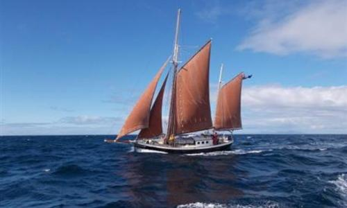 Image of Traditional Gaff Steel Ketch for sale in United Kingdom for £99,999 Holyhead, Anglesey, Wales, United Kingdom