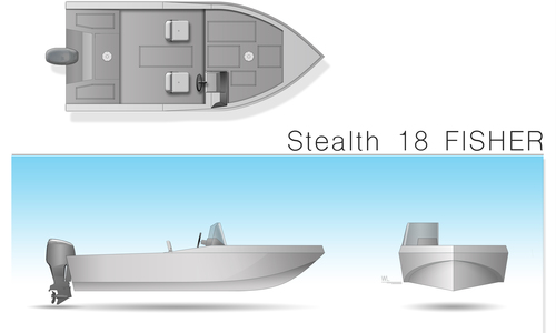 Image of Stealth Boats Fisher 18 Consol for sale in Poland for €9,300 (£8,199) Gdańsk, Poland