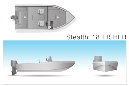 Stealth Boats Fisher 18 Consol for sale in Poland for €9,300 (£8,202)