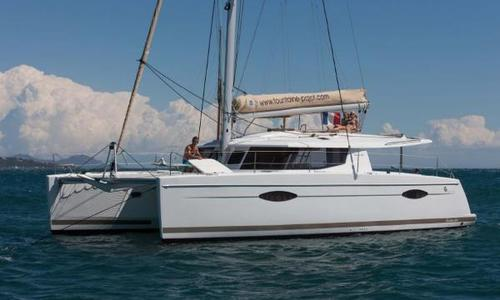 Image of Fountaine Pajot Helia 44 for sale in Turkey for €449,750 (£395,900) Bodrum, Turkey