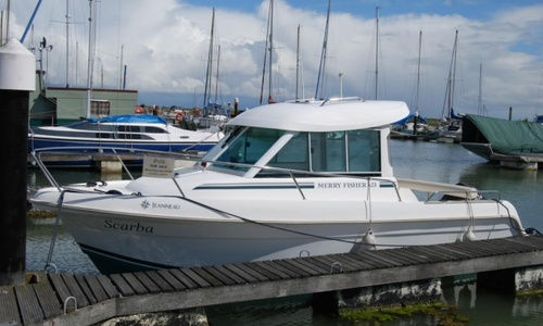 Image of Jeanneau Merry Fisher 625 for sale in United Kingdom for £15,250 Tollesbury Marina, Essex, United Kingdom