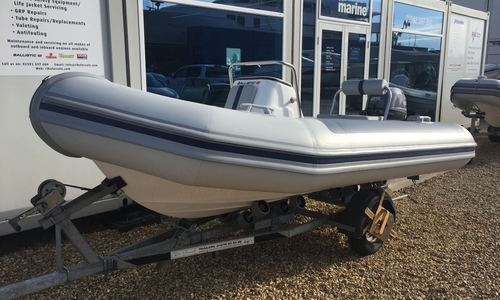 Image of Ballistic Ex Demo  4.3M RIB with Yamaha F25HP Outboard Engine and Trailer for sale in United Kingdom for £10,995 South East, Portsmouth, United Kingdom
