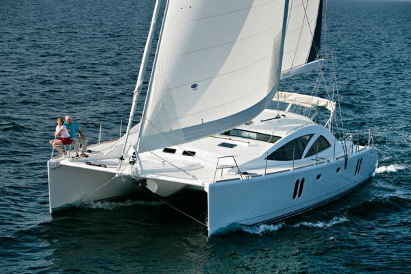 Discovery Yachts Cat 50 blue water cruiser for sale in