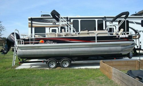Image of Sun Tracker Fishin' Barge 24 Signature Series for sale in United States of America for $22,000 (£15,739) Sealy, Texas, United States of America