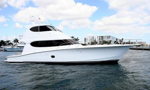 Image of Hatteras 64 Enclosed Bridge Convertible for sale in United States of America for $1,495,000 (£1,064,330) Palm Beach Boat Show, Ramp 7, FL, United States of America