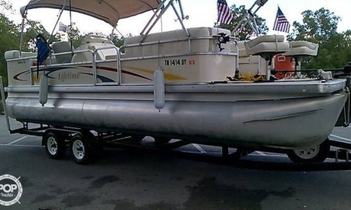 Image of Lifetime Fisher 240 DLX Pontoon for sale in United States of America for $18,500 (£13,265) Middlesboro, Kentucky, United States of America