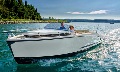 Image of Alfamarine Marine 23 Cabin Cruise White line 25 HP Yamaha - taking orders for season 2019 for sale in Germany for €38,160 (£33,942) Sežana, Germany