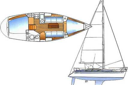 Bavaria 31 for sale in Croatia for €31,500 (£27,613)