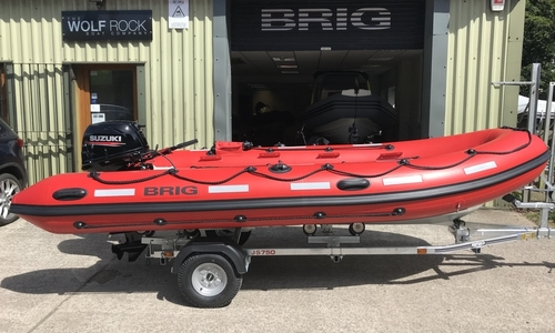 Image of Brig Falcon 450HS Safety Series - ORCA Hypalon for sale in United Kingdom for £9,995 South West, United Kingdom