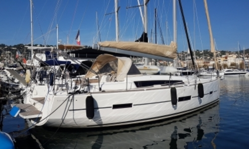 Image of Dufour Yachts 410 Grand Large for sale in France for €155,000 (£132,589) GOLFE JUAN, France