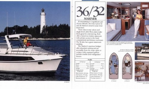 Image of Carver Yachts 36 Mariner for sale in United States of America for $39,500 (£28,147) Riverdale, North Dakota, United States of America