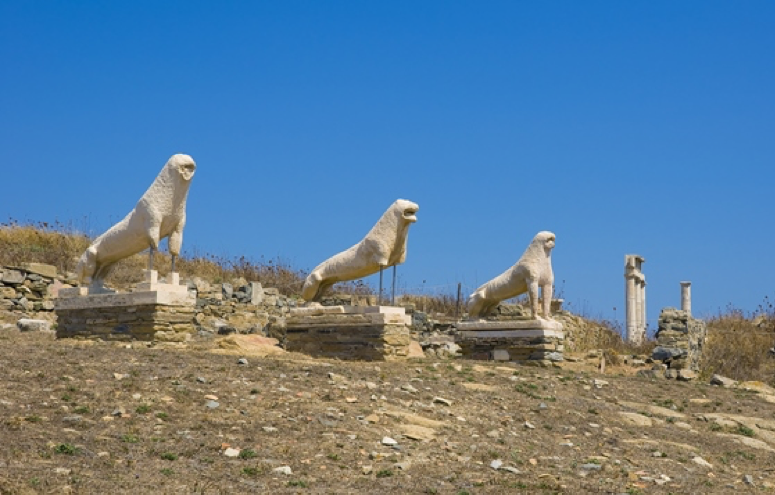 Delos in Greek Island