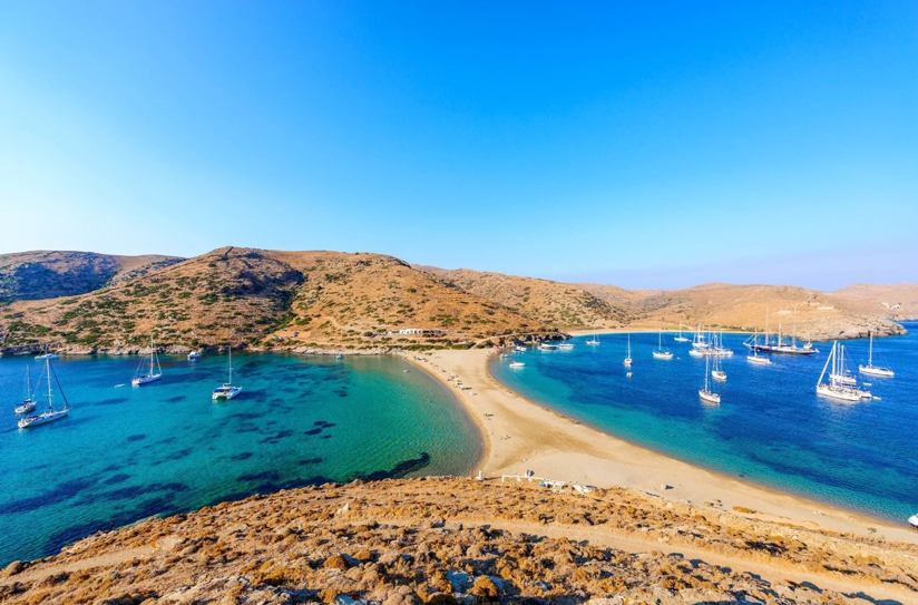 Kythnos in Greek Island