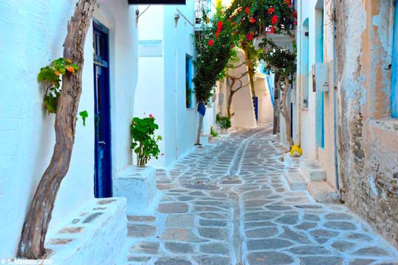 Paros Greek Island Street