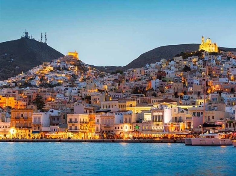 Syros in Greek Island