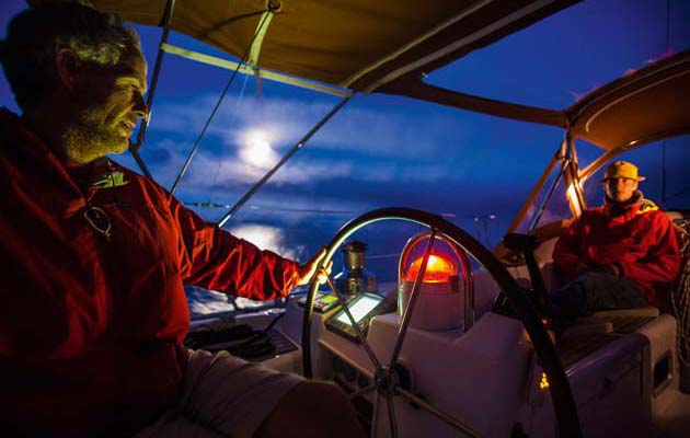 Night Sailing with Food and Clothing